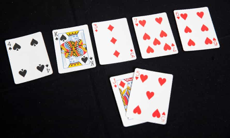 Royal flush: Stormzy lays out his cards.