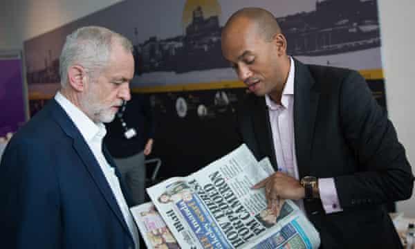 Jeremy Corbyn and Chuka Umunna