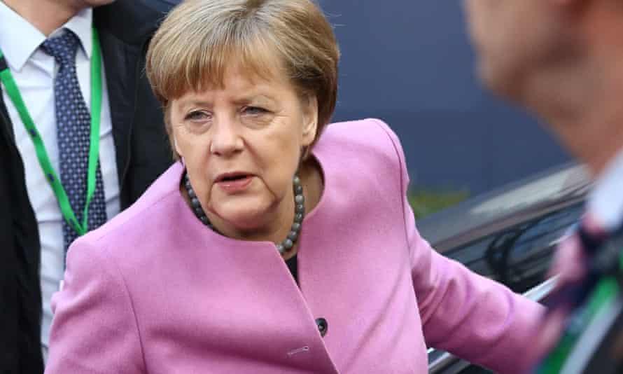 Merkel at the European summit in Brussels
