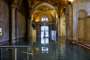 The flooded crypt of St Mark's Basilica