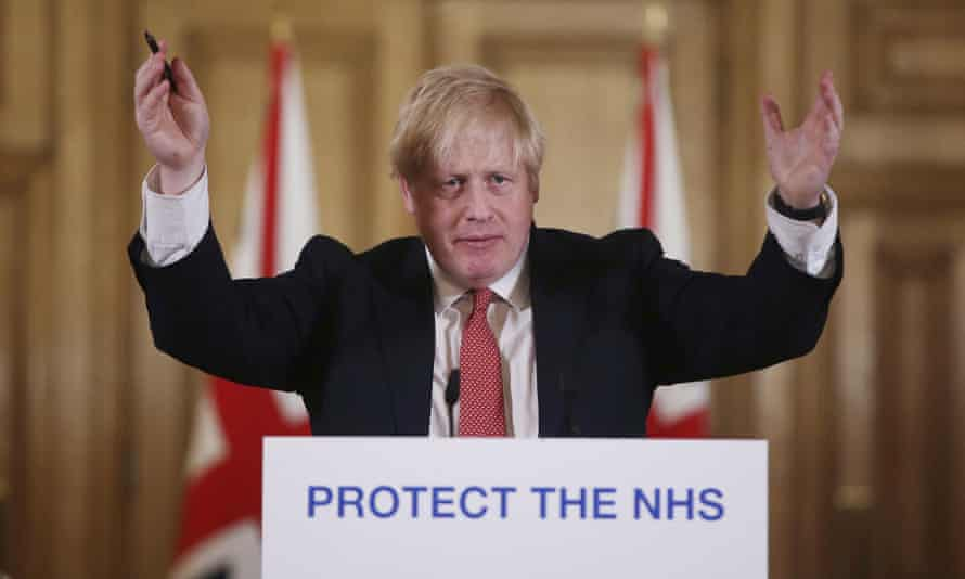 Boris Johnson announce lockdown measures on 22 March.