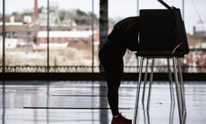 A voter casts a ballot in Richmond, Virginia.