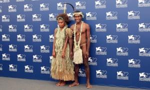 Marie Wawa and Mungau Dain at the 72nd Venice film festival.