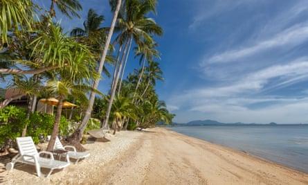 Nathon beach, Laem Yai, Koh Samui, Thailand
