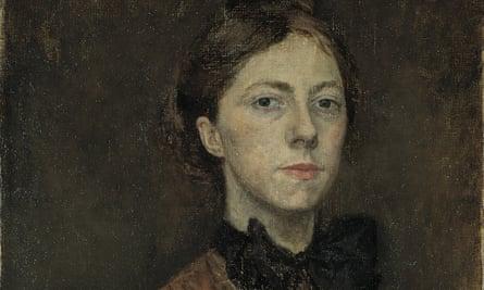 Detail of a self portrait by Gwen John