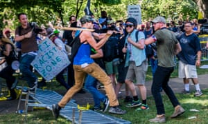 White supremacist groups clashed with counter-protesters at the Unite the Right in Charlottesville, Virginia, August 2017.