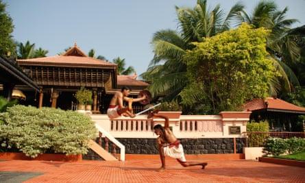 Kalari, an Indian martial art that originated in Kerala.