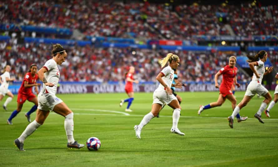 England playing the US in the 2019 Women's World Cup.