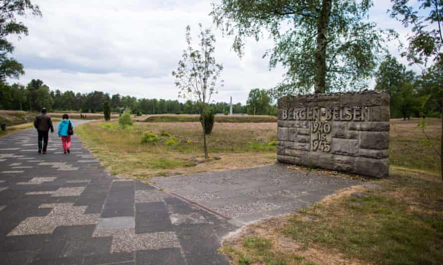 Entrance to the memorial site of the former Bergen-Belsen concentration camp, north of Hanover, Germany. The Queen will visit Bergen-Belsen on Friday, her first ever to a concentration camp.