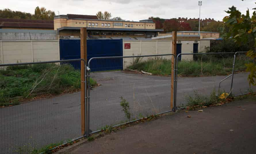 Dulwich Hamlet FC's fenced-off Champion Hill ground.