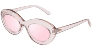 Try a new perspectiveThere's nothing wrong with looking at the world through rose-tinted glasses every now and then. Shield the winter sun with these cat-eye frames from Le Specs, the sunglasses silhouette of the season. Sunglasses, Le Specs, £45.