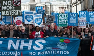 National demonstration in London to protest agains the state of the NHS.