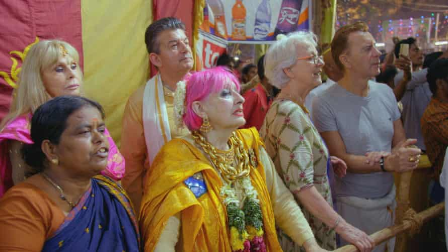 Rhodes, centre, in the BBC's The Real Marigold Hotel.