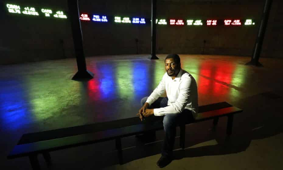 Emeka Ogboh at the Tate Modern unveiling of The Way Earthly Things Are Going