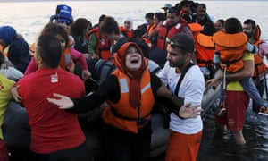 Refugees have to endure overcrowded boats; many drown as they rush to be rescued.