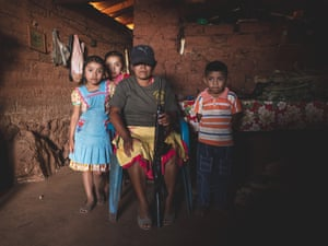 Forgotten GuerreroMexico; Guerrero; Rincon De Chautla; 12/01/20 Portrait of a mother from Rincon De Chautla with her children. Like other women she decided to became part the police community to protect her family.