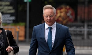 CEO and Senior Financial Advisor at Henderson Maxwell, Sam Henderson (right) arrives at the Federal Court in Melbourne, Tuesday, April 24, 2018.