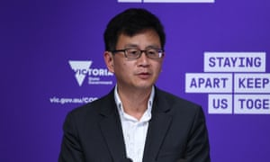 Deputy chief health officer Prof Allen Cheng addresses the media earlier today.