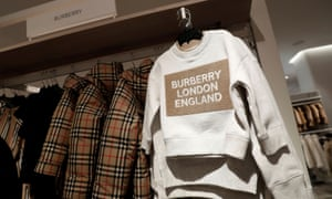 Children's Burberry clothes.