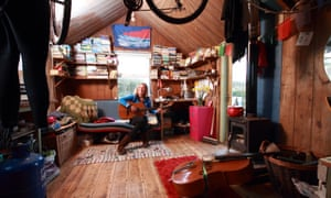 'Hippy simplicity': Catrina Davies at home in her corrugated iron shed in Cornwall
