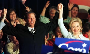 Hillary Clinton and Al Gore campaigning in 1999. He was running for president, she was mulling an eventual run for the US Senate.