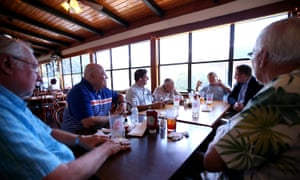 Members of the Faith Presbyterian church men's club at Morton's Boiled Seafood & Bar in Madisonville, Louisiana.
