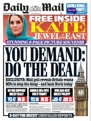 daily mail front page 19 october 2019