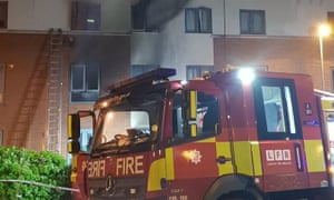 Fire crews tackle house fire in Woolwich