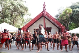 The haka during the delegation welcome