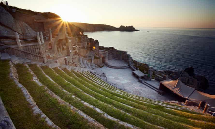 The Minack theatre in Cornwall.
