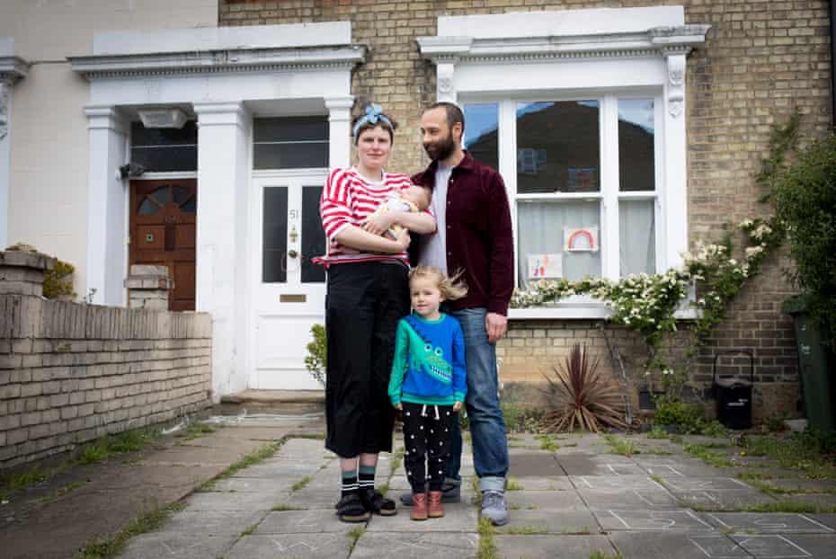 Helen Ward, Oli Evans and children
