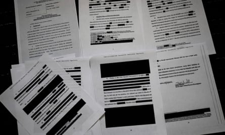 The attorney general, William Barr, made redactions under four categories: harm to ongoing matters; grand jury evidence; investigative techniques; and personal privacy.