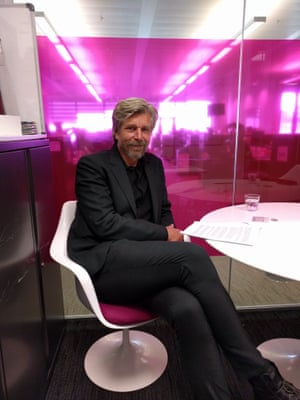 Karl Ove in the Guardian's offices.