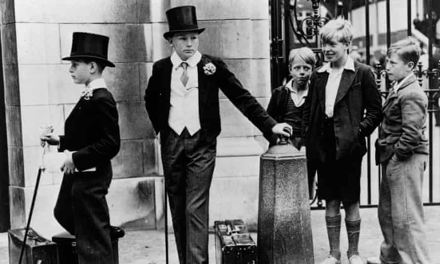 Harrow schoolboys meet less privileged Londoners outside Lord's cricket ground in 1937.