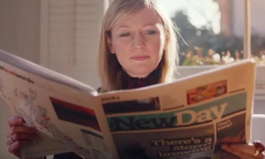 A TV ad asks readers to 'seize the New Day'.