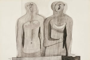 Two Half Figures by Henry Moore.