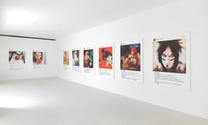 Richard Prince's New Portraits exhibition, which used photographs taken from Instagram.