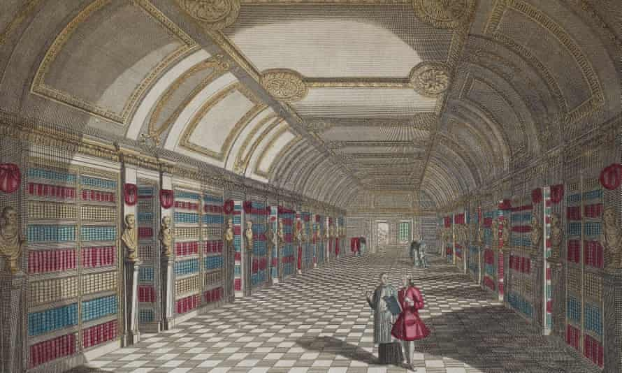 The French revolution proved a boon to book collectors … view of St Genevieve library in Paris.