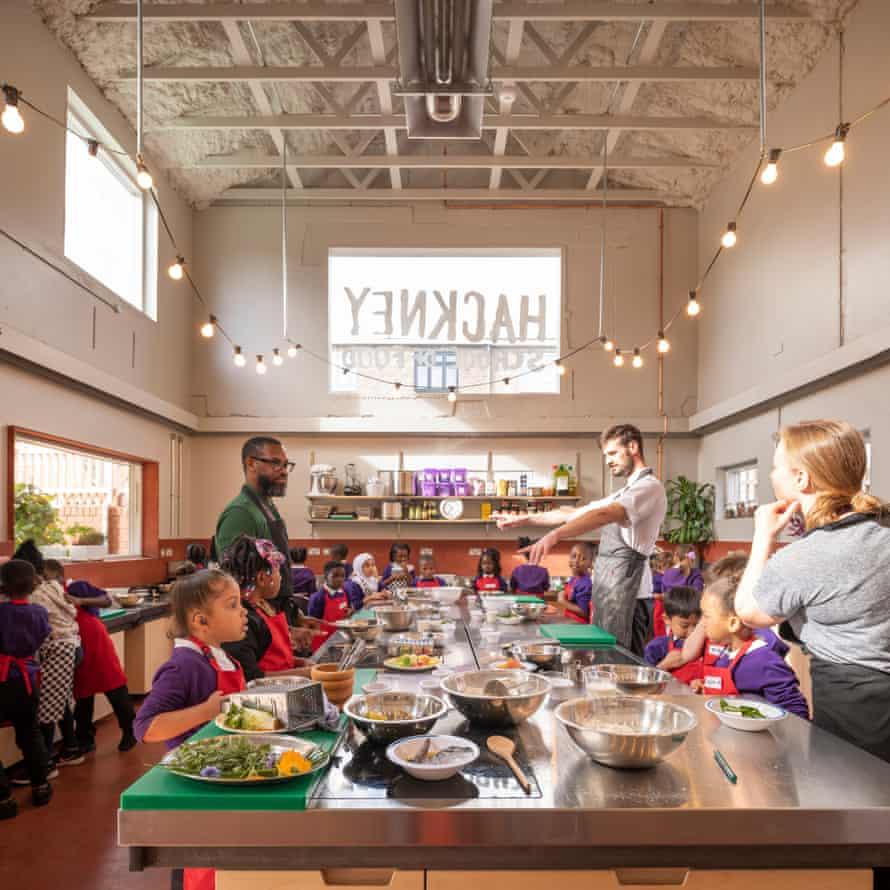inside the Hackney School of Food.