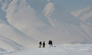 Snow-covered mountains in Afghanistan