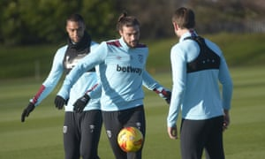 Andy Carroll will return for West Ham this week.