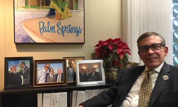 Robert Moon, the mayor of Palm Springs, in his office.