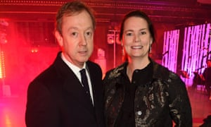 Geordie Greig, the new editor of the Daily Mail, with his wife Kathryn.