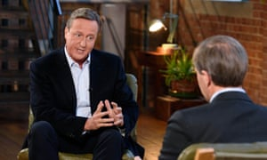 David Cameron interviewed by ITV