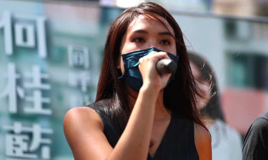 Gwyneth Ho, pictured campaigning during a primary election in Hong Kong.