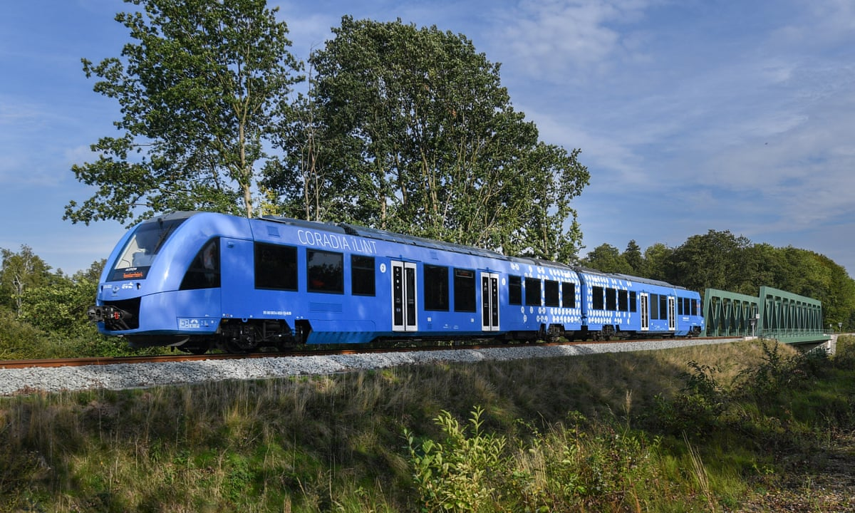 Germany Launches World S First Hydrogen Powered Train Hydrogen Power The Guardian