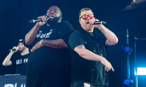Killer Mike and El-P on stage in London in 2018.