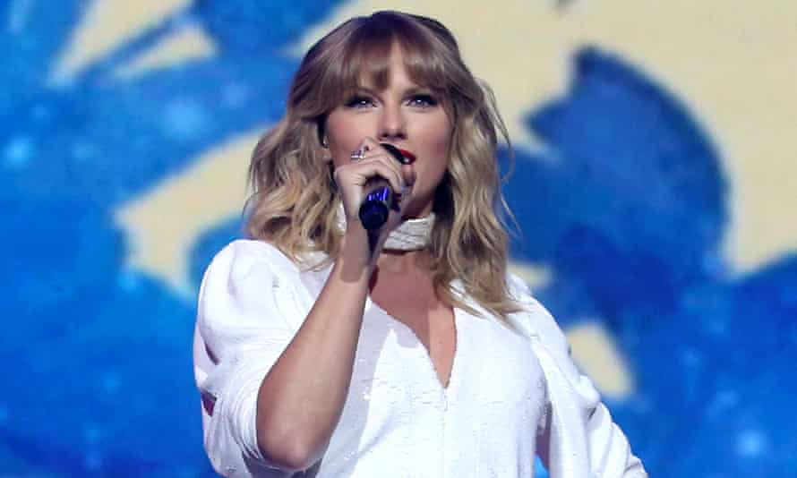 Taylor Swift performing in December.