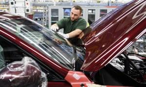 Jaguar Land Rover's factory at Solihull.