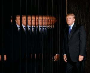 Donald Trump reflected in his New York offices, 2006.